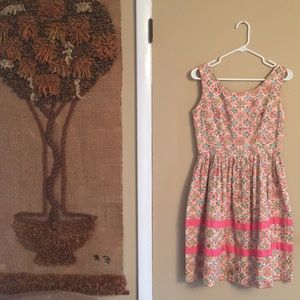 Vintage 60s Spring Swing Dress S